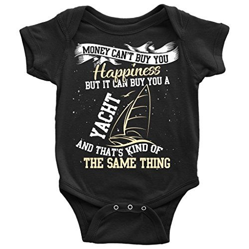 A Yacht Baby Bodysuit, I Love Cruising T Shirt (24M, Baby Bodysuit - Black)