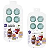 (Set/2) Wilton Shot Glass Drink And Dessert Mold - Ice Glasses Treat Cups