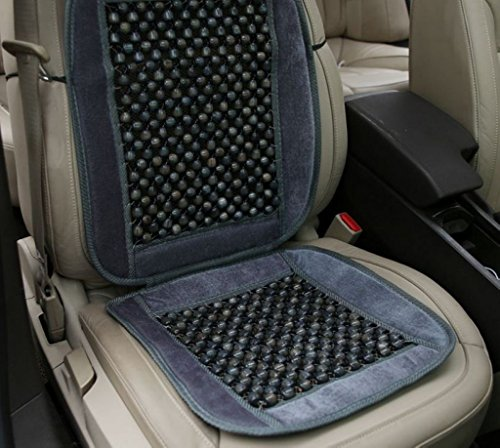 EFORCAR Natural Wood Bead Seat Cushion, Auto Premium Plush Velvet Seat Cover Car Seat Office, Home Chair Durable…