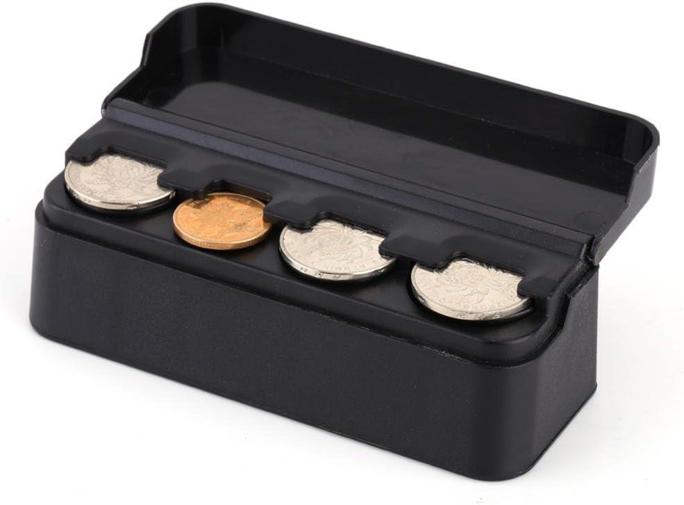 Fydun Car Coins Case Auto Car Portable Plastic Coin Holder Storage Case Container Coins Organizer Storage Bag