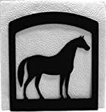 Iron Horse Napkin Holder - Black Metal