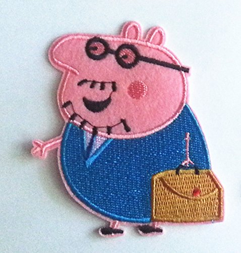 PEPPA PIG Daddy Pig Embroidered Iron On /Sew On ()