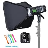 Godox AD600BM Bowens Mount 600Ws GN87 High-Speed Sync Outdoor Flash Strobe Light Monolight with X1T-S Wireless Trigger Transmitter For Sony Camera &32''X32'' Softbox (white Bowens Mount Speedring)
