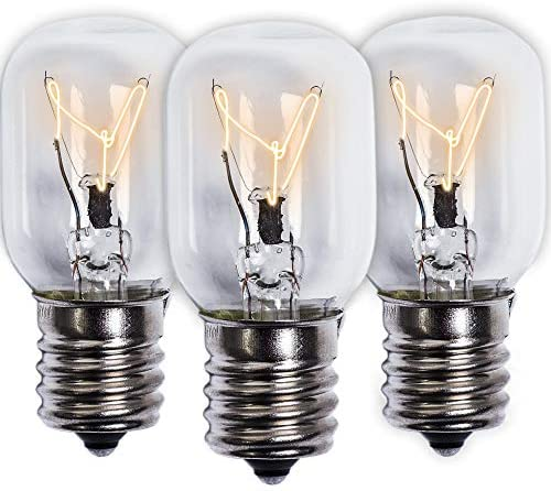 Ultra Durable 8206232A Microwave Light Bulb 40W E17 125V Replacement Part by Blue Stars - Exact Fit for Whirlpool Maytag Microwaves and The Lava Lamps - Replaces 1890433 8206232 AP4512653 - Pack of 3