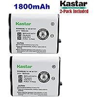 Kastar HHR-P511 / HHR-P402 Battery (2-Pack), Type 24 / 30 NI-MH Rechargeable Cordless Telephone Battery 3.6V 1800mAh, Replacement for Panasonic HHR-P511, HHR-P402, P-P511, P-P511A, HHR-P402A