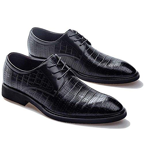 D'été pour Officiel à pour Chaussures Dessus Black en à RENHONG Lacets Hommes Les Hommes Trous Respirants Bas Cuir Bas Wp0YXwqq