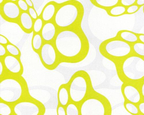 Livingwalls 1236-19 Tapete, Floating Foam, weiß grün, Design by Lars ...