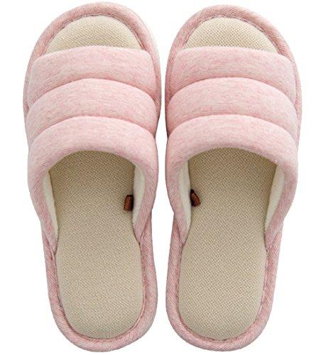 Cattior Donne Comode Pantofole A Punta Aperta Pantofole Da Donna Rosa