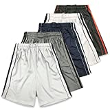 American Legend Mens Active Athletic Performance Shorts - Set 6-5 Pack, M