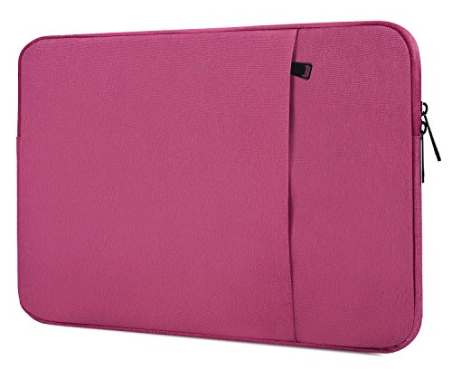 13-13.3 Inch Waterpoof Laptop Case Bag for Dell Inspiron 13, ASUS Zenbook 13.3, Dell XPS 13, Lenovo Yoga 720 13.3, Acer Aspire R13, HP ENVY/Spectre X360 13.3 Inch Notebook Carrying Bag, Hot Pink