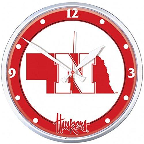 - NCAA Nebraska Cornhuskers WinCraft Official Round Clock