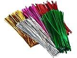4'' Twist Ties~ Assortment~ 5 colorsGold, Silver, Pink, Emerald & Red (7 unit, 1000 pack per unit.)
