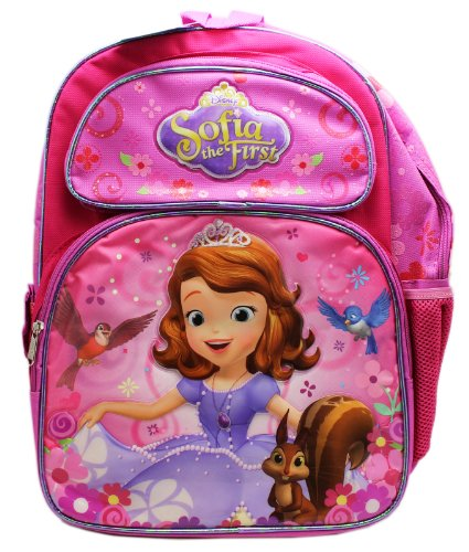 Full Size Pink Sophia the First Pretty Dress Kids Backpack