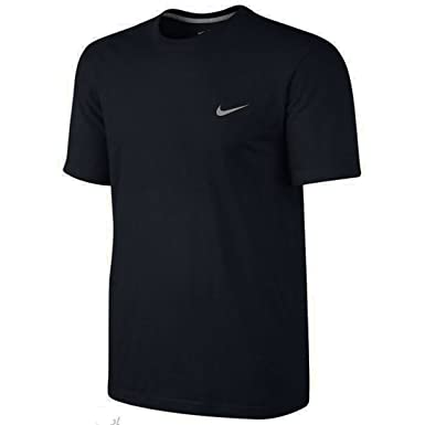 100c1acc1c67 Nike Swoosh Mens Black Classic Tee Embroidered Short Sleeved Sports Tshirt   Amazon.co.uk  Clothing