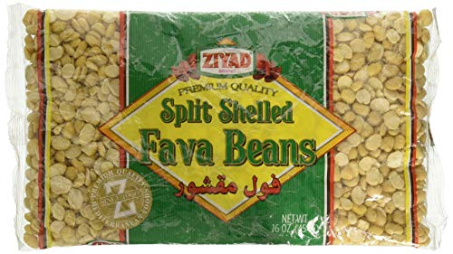 Ziyad Split/Shelled Small Fava Beans 16 OZ, (Pack 1)