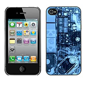 LECELL--Funda protectora / Cubierta / Piel For iPhone 4 / 4S -- Electrónica Pcb Hdd X Ray Pc --