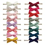 Baby Nylon Headbands Hairbands Hair Bow Elastics for Baby Girls Newborn Infant Toddlers Kids by Prohouse (Felt Cloth Bows-16PCS): more info