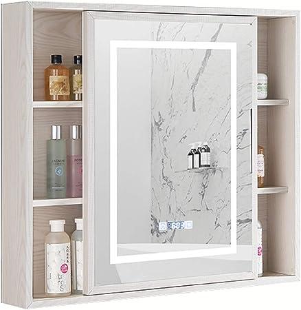 Gabinete de Pared de Aluminio con gabinete de Espejo LED ...
