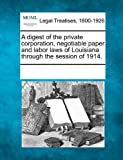 A digest of the private corporation, negotiable paper and labor laws of Louisiana through the session of 1914.