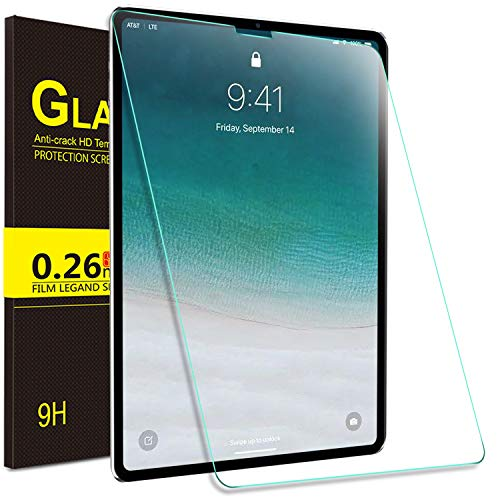 IVSO Apple New iPad Pro 12.9 2018 Screen Protector, Scratch-Resistant No-Bubble 9H Hardness HD Clear Tempered Glass Screen Protector for Apple New iPad Pro 12.9 2018 Tablet (Clear) ()