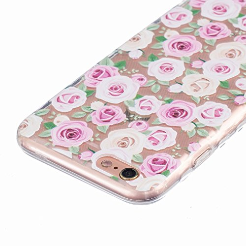 Ougger Apple iPhone 6s Plus 5.5 Custodia Case, Antigraffio Trasparente Cristallo Durevole Slim Morbido TPU Gomma Silicone Flessibile Protettivo Skin Shell Bumper Rear (Modello 10)