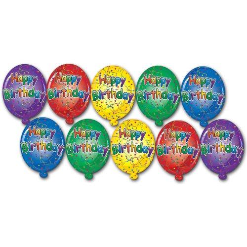 Beistle Mini Happy Birthday Cutouts ()