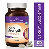 New Chapter Calcium Supplement - Bone Strength Whole Food Calcium with Vitamin K2 + D3 + Magnesium, Vegetarian, Gluten Free 120 count (40 day supply)