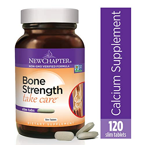 New Chapter Calcium Supplement - Bone Strength Whole Food Calcium with Vitamin K2 + D3 + Magnesium, Vegetarian, Gluten Free 120 count (40 day supply) (Best Vitamins To Take)