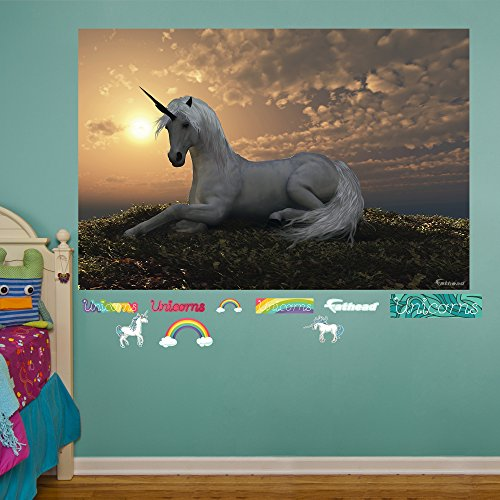 FATHEAD Unicorn at Dusk Mural Real Big Wall Decal
