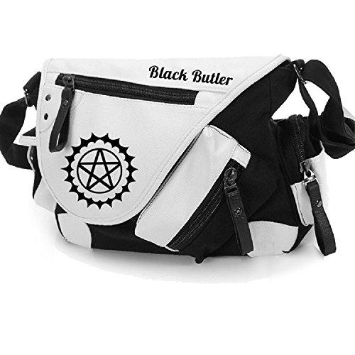 Black Leather Butler Bag - 8
