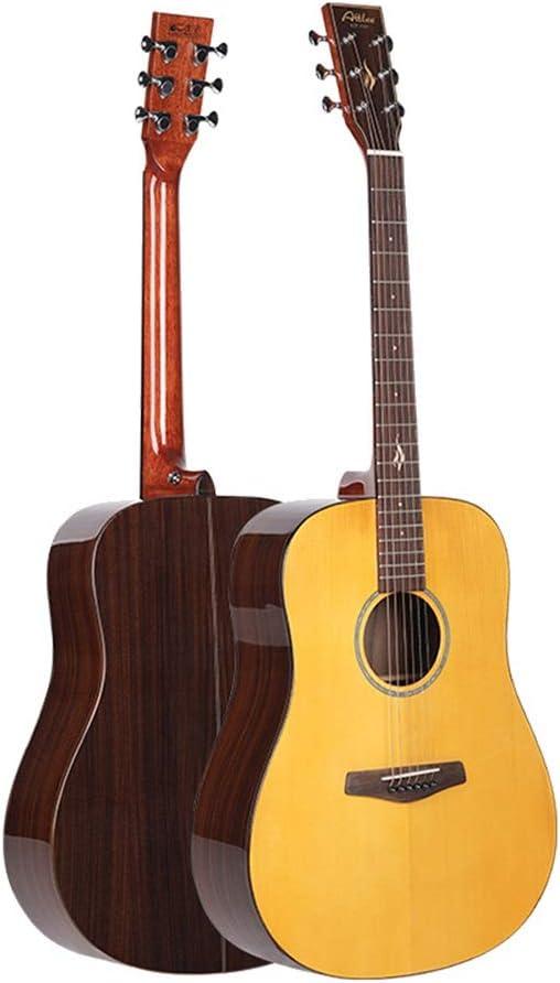 Zavddy Guitarra Junta Sola Guitarra 41 Pulgadas Brillante Redondeado del Barril del Tambor acústica como Entrante Principiante Amantes de la música (Color : Natural, Size : 41 Inches)