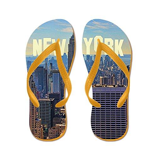 Cafepress Empire State Building Vanaf De Top Van T - Slippers, Grappige String Sandalen, Strand Sandalen Oranje