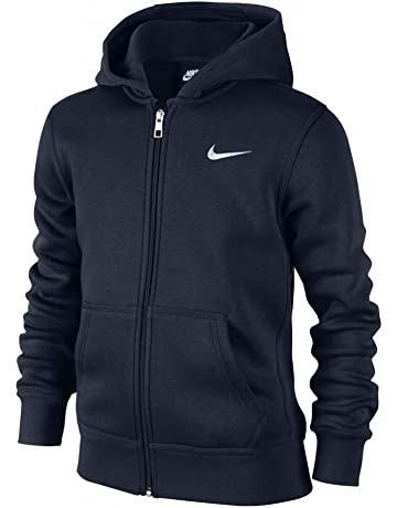 c2b3e9720a7ab Nike - Young Athletes 76 - Brushed Sweat-shirt à capuche zippé - Mixte  Enfant