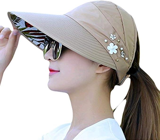 Gorros para Mujer Sombrero para El De Sol Elegante Sombrero Verano ...