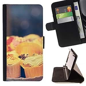 For Samsung Galaxy J3(2016) J320F J320P J320M J320Y Case , Cocinero chef de repostería Dulces Alimentos- la tarjeta de Crédito Slots PU Funda de cuero Monedero caso cubierta de piel