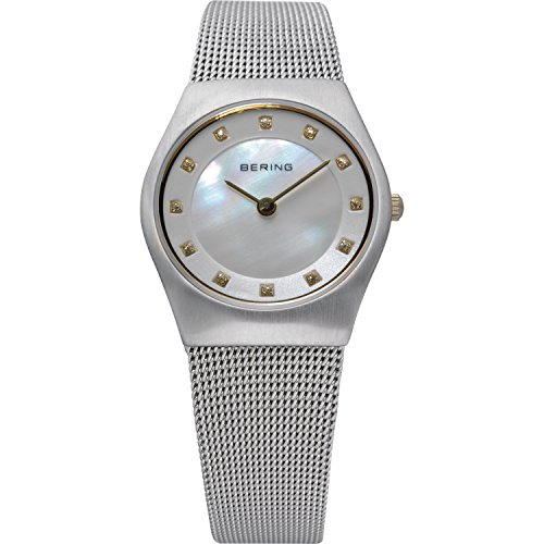 BERING Time 11927-004 Womens Classic Collection Watch with Mesh Band and Scratch Resistant Sapphire Crystal. Designed in Denmark.