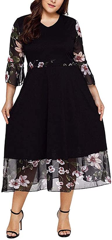 Vestidos Tallas Grandes Plus Size Largos De Fiesta Para Gorditas Xl Elegantes Tallas Extras 2xl Black At Amazon Women S Clothing Store