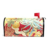 Chu warm Mailbox Covers Magnetic Japanese Print Spring Bird Flowers On Mono Standard Size