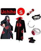 Naruto Itachi Uchiha cosplay costume and shoes set size Small