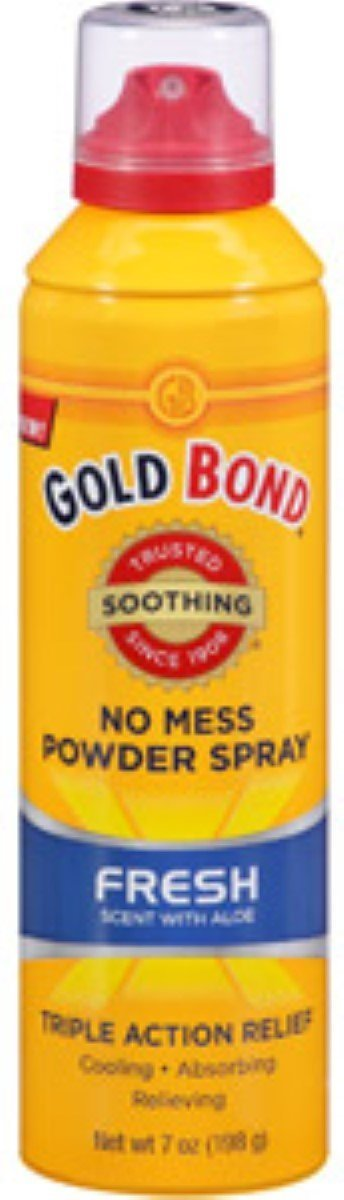 Gold Bond No Mess Body Powder Spray Fresh Scent with Aloe - 7 oz, Pack of 5 CHATTEM INC