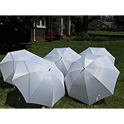 White Wedding Umbrella 5 Pack 68 Inch Jumbo covers 3 adults