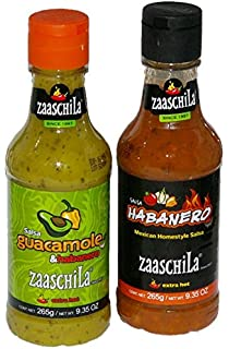 Zaaschila Salsa Habanero and Salsa Guacamole & Habanero Extra Hot 1 Each Bundle