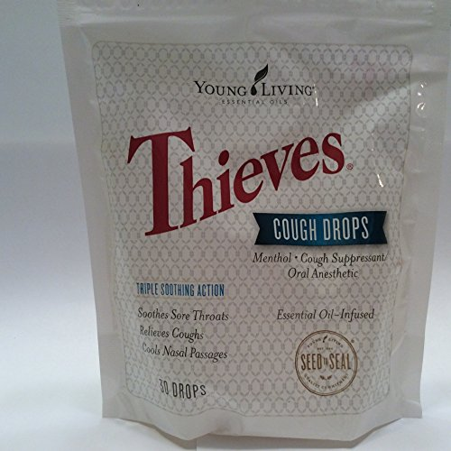 (Thieves Cough Drops 30 Ct Essential Oil Infused by Young Living Essential Oil)
