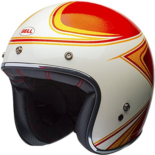 Bell LE Custom 500 Copperhead Orange/White Open Face Helmet, - Bell Helmets Face Open