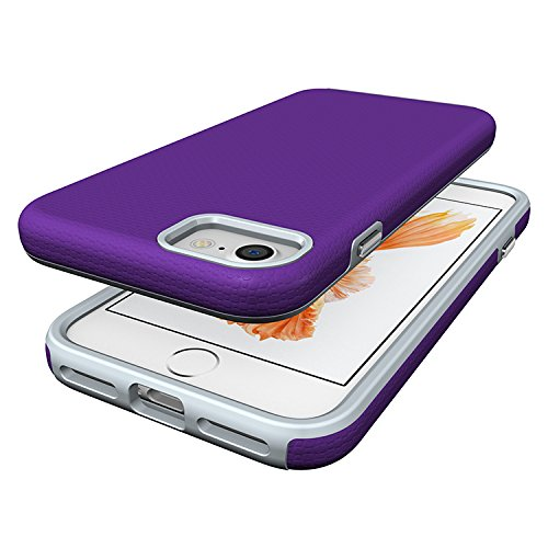 iProtect Apple iPhone 7 TPU Shockproof Combo Outdoor Case Schutzhülle in lila