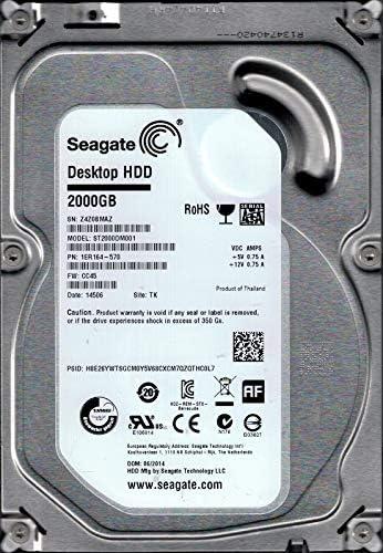 """Seagate Desktop HDD ST2000DM001 2TB  P//N:1ER164-022 3.5/"""" SATA HDD"""