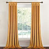 StangH Gold Velvet Curtain Panels – Stunning Thick Heavy Duty Large Window Drapes with Twist Tab Design for Bedroom/Party/Hotel Hall, Warm Gold, Wide 52 x Long 96-Inches, 2 Panels Review