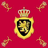 magFlags Large Flag Royal Standard of King Philippe of Belgium | 1.35m² | 14.5sqft | 120x120cm | 45x45inch - 100% Made in Germany - Long Lasting Outdoor Flag