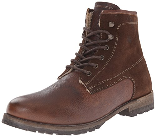 Steve Madden Fur Boots - Steve Madden Men's Upsell Winter Boot, Brown, 9 M US