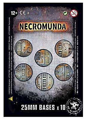 Warhammer 40k Necromunda 25MM Bases x 10 Games Workshop from Games Workshop